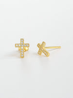 MIni Cross Stud Earrings