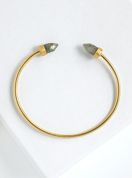 Double Crystal Point Bangle Bracelet*