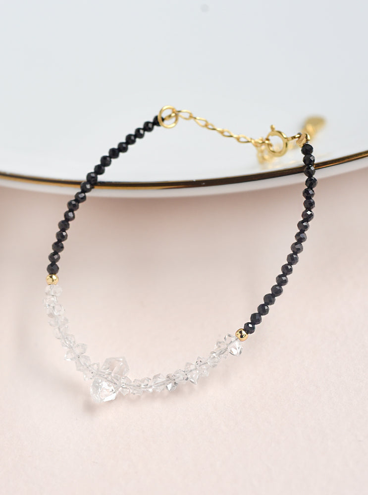 Herkimer Diamond Beaded Bracelet *