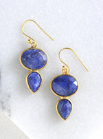 Oval and Teardrop Earrings