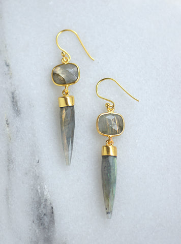 Related product : Pointy Cushion Gemstone Earrings