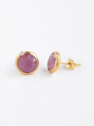 Related product : Nature Sapphire Round Genuine Diamond Earring *