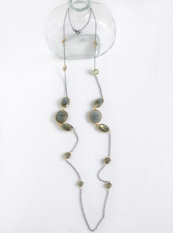 Multi-Shape Gemstone Necklace