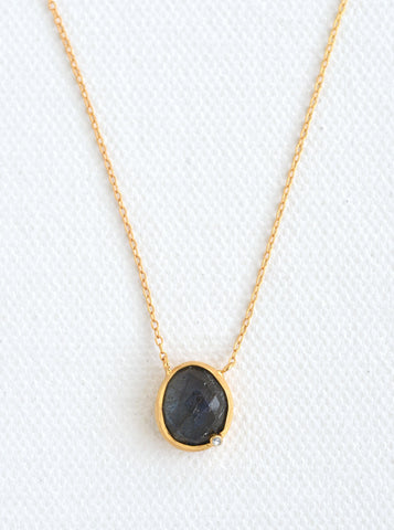 Related product : Nature Gemstone Oval Genuine Diamond Necklace *