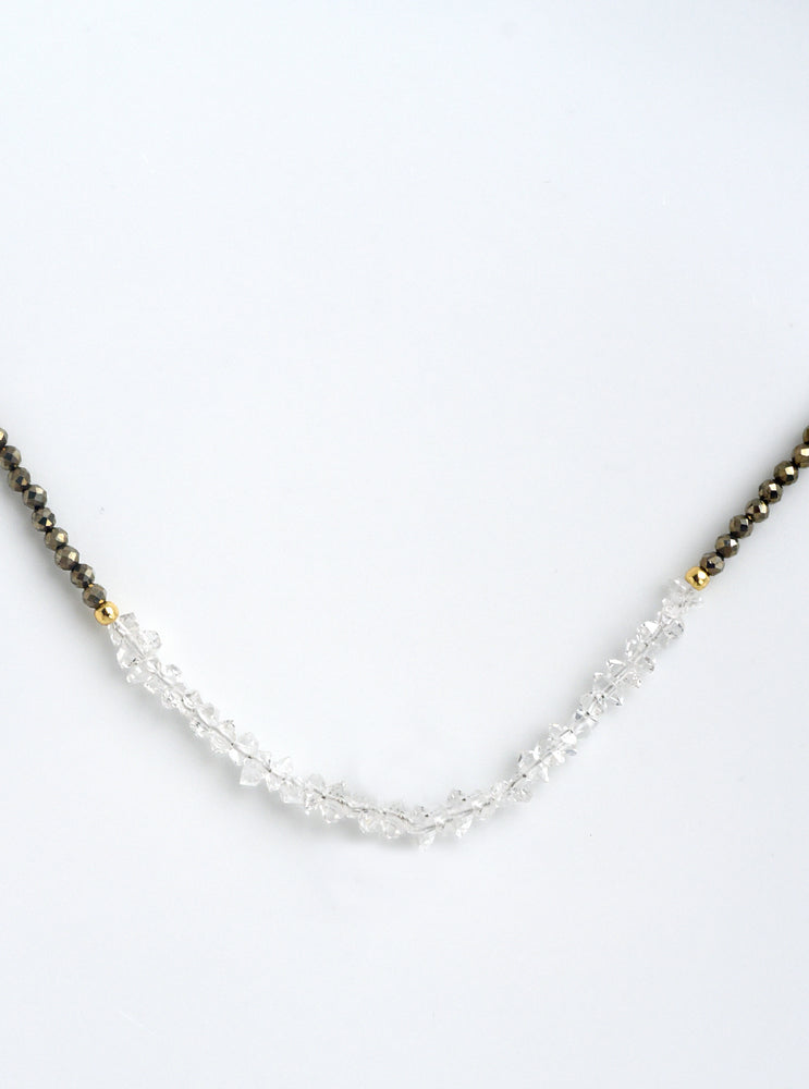 Herkimer Diamond Beaded Necklace