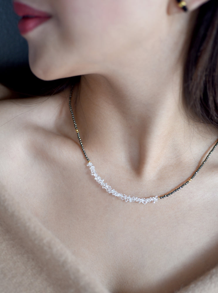 Herkimer Diamond Beaded Necklace *