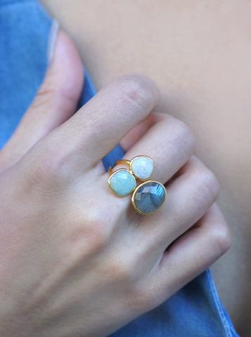 Related product : Asymmetrical Gemstone Ring