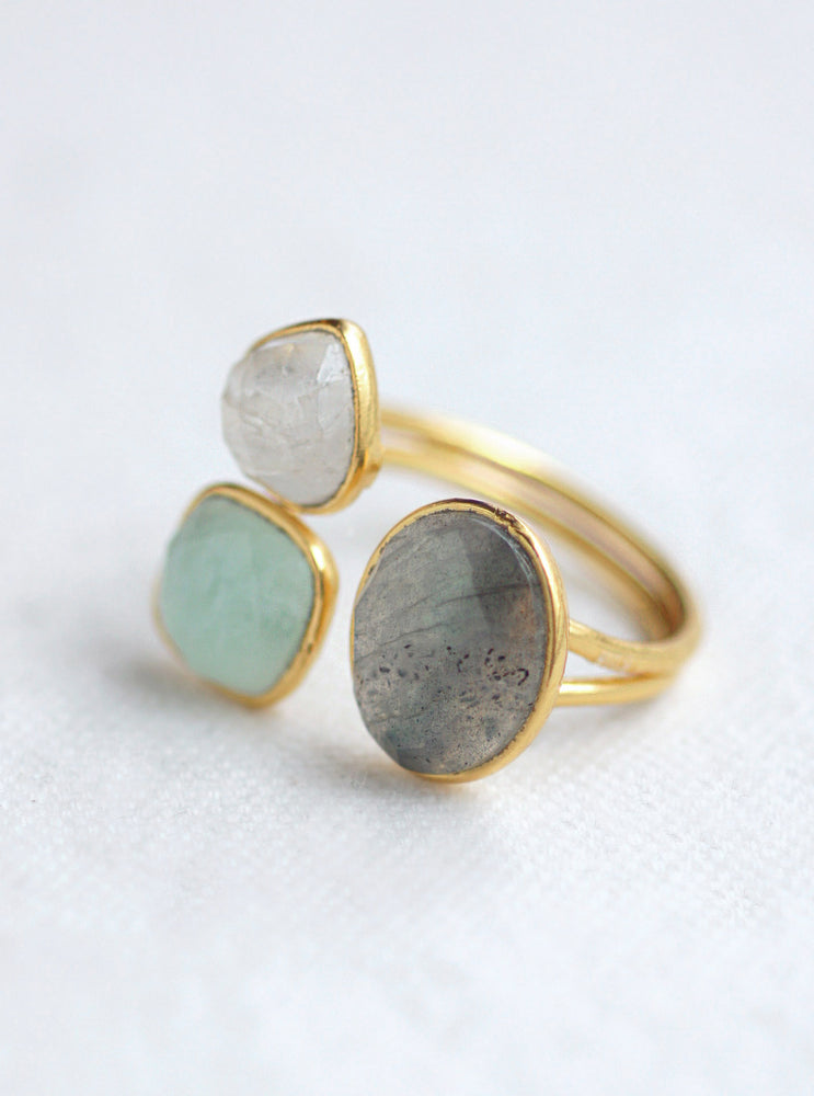 Asymmetrical Gemstone Ring