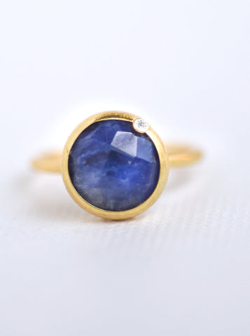 Related product : Natural Gemstone with Diamond Round Ring