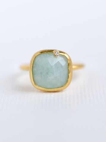 Related product : Natural Gemstone with Diamond Oval & Cushion Ring