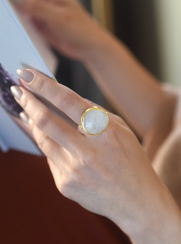 Related product : Pear Shape Gemstone with CZ Ring