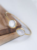 Mother of Pearl and Diamond Double Bangle*