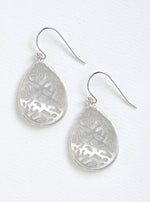 Carved MOP Teardrop Earring