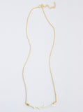 Carved Bone Branch Horizontal Bar Necklace *