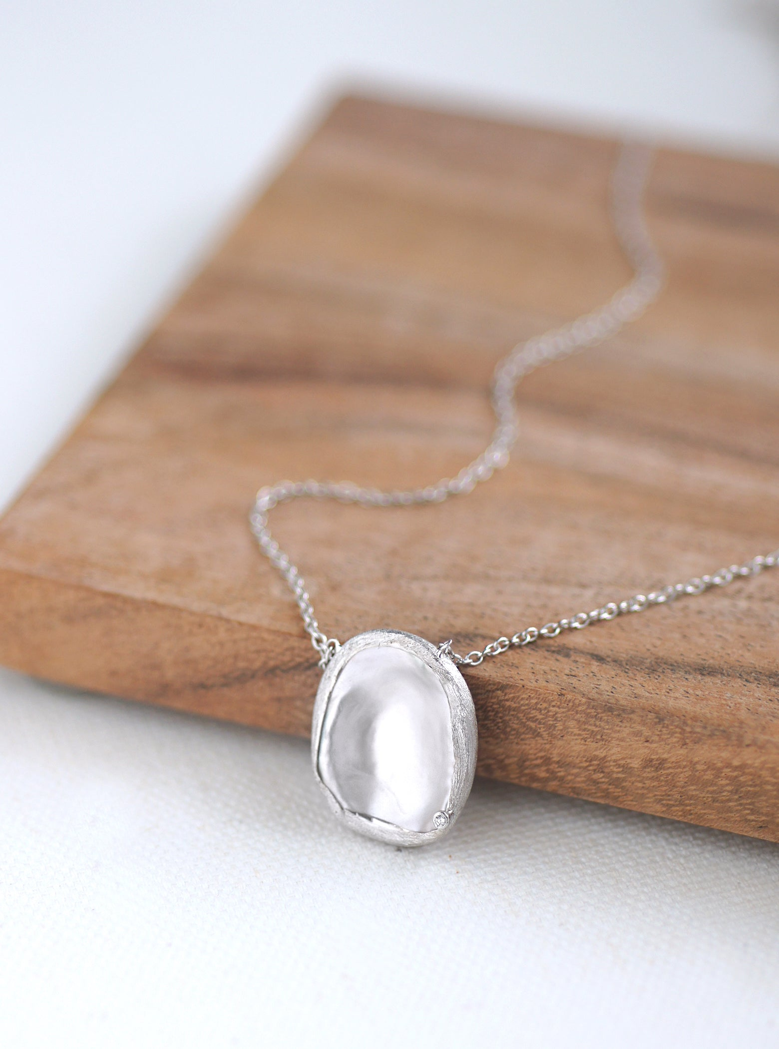 Mother of Pearl and Diamond Necklace **