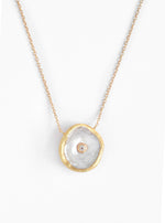 Coin Pearl CZ Necklace