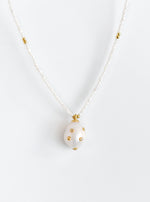 Natural Baroque Pearl with beaded Pearl Necklace