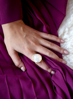 Mother of Pearl and CZ Ring