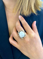 Blossom MOP With CZ Brunch Ring