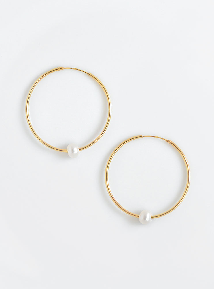 Big Hoop MOP Earrings
