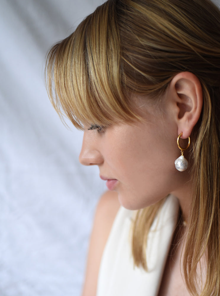 Hoop Mop Drop Earrings