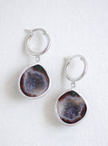 Geode Hoop Earrings