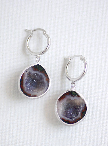 Geode Hoop Earrings """"