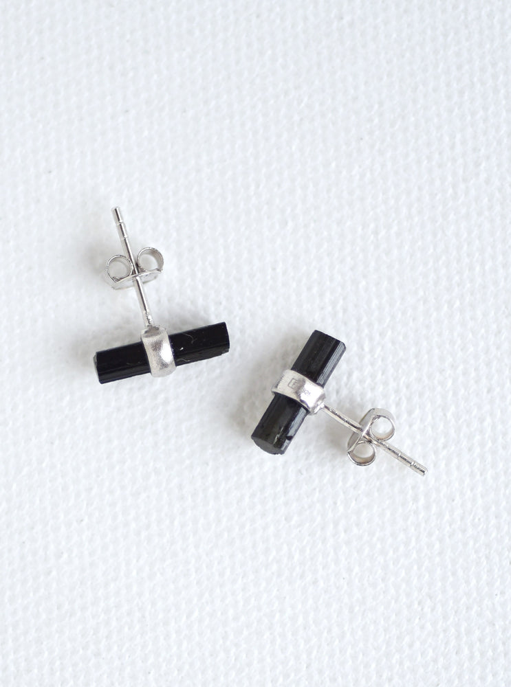 Tourmaline Parallel Bar Earring
