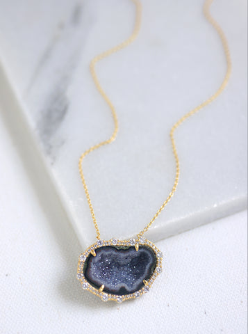 Related product : CZ Geode Freeform Necklace