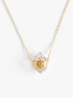Herkimer Quartz with Diamond Necklace