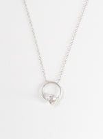 Herkimer Halo Necklace with Diamond