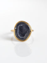Geode with Diamond Ring
