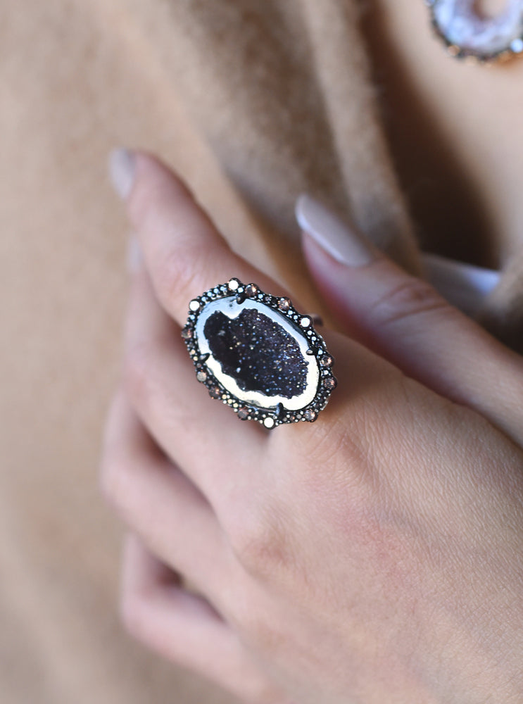 CZ Geode Freeform Ring