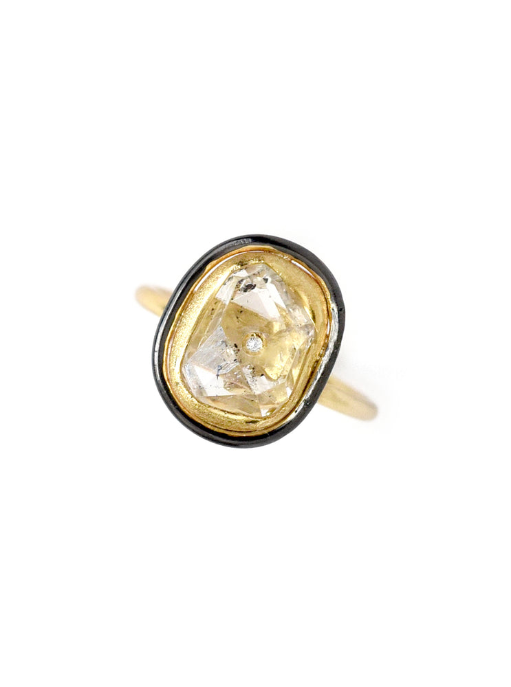 Herkimer Quartz Ring