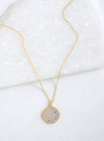 Shining Druzy Small Cushion Necklace