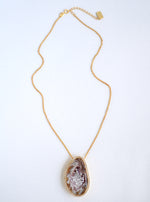 CZ Open Agate Sparkle Filled Short Necklace