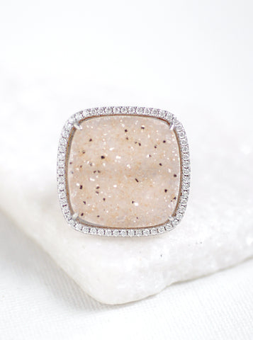 Related product : Glitter Druzy Square Ring