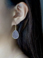 Shining Druzy Teardrop Earrings