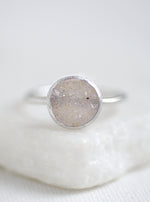 Shining Druzy Small Round Ring