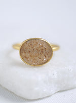Shining Druzy Large Oval Ring