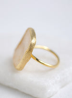 Shining Druzy Statement Cushion Ring