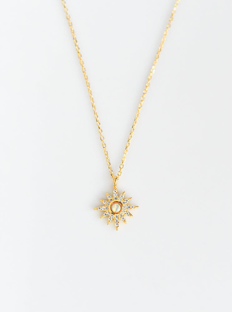 Star and Synthetic Opal Necklace