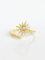 Adjustable Star and Opal Ring