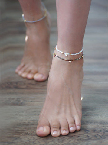 Related product : Gemstone and CZ Ankle Bracelet *