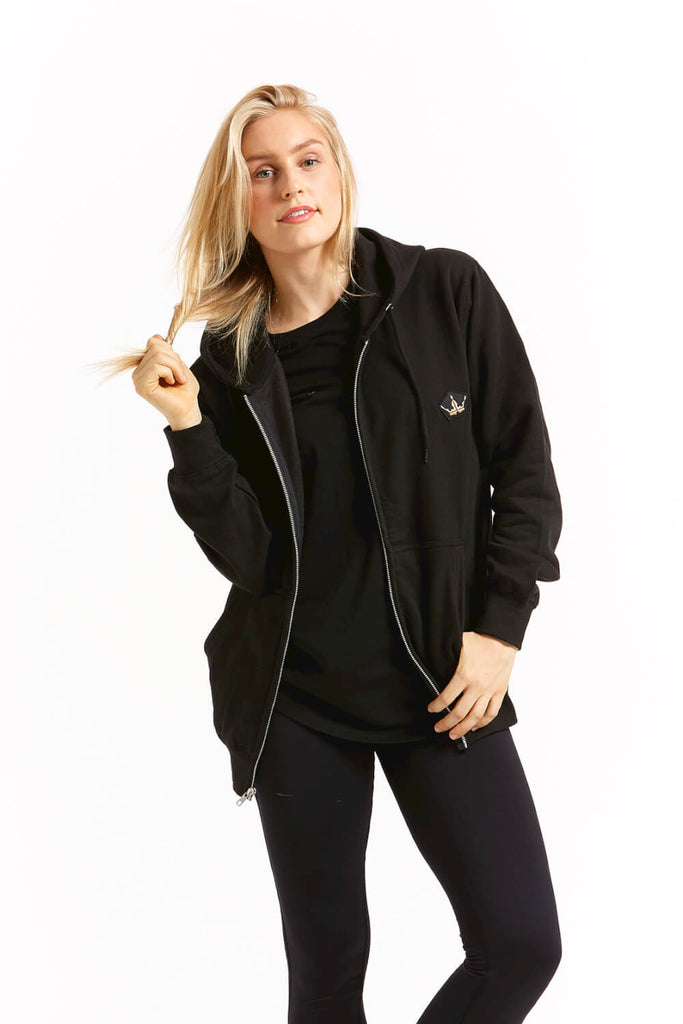 Crest Black Zip Up
