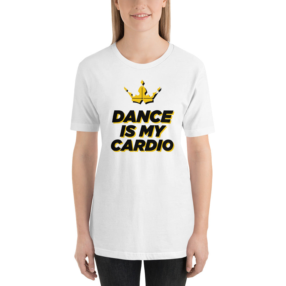 Dance Is My Cardio White Tee - Unisex
