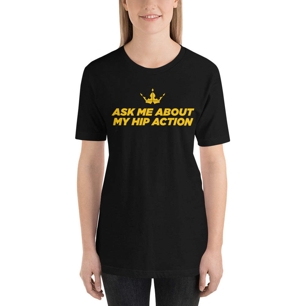 Erin - Ask Me Black Tee