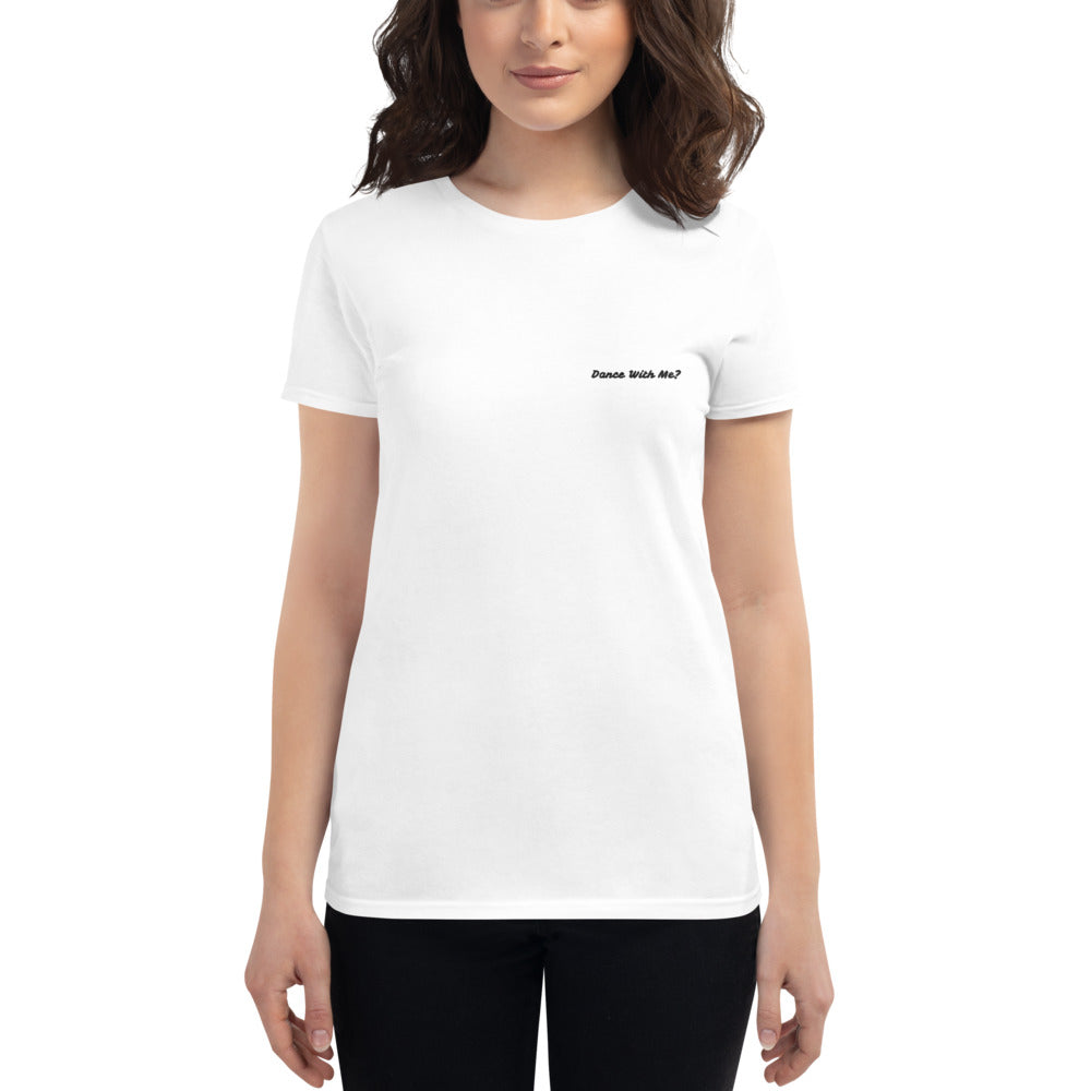 Embroidered Dance With Me White Tee