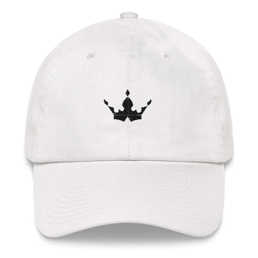 Black Crown White Cap