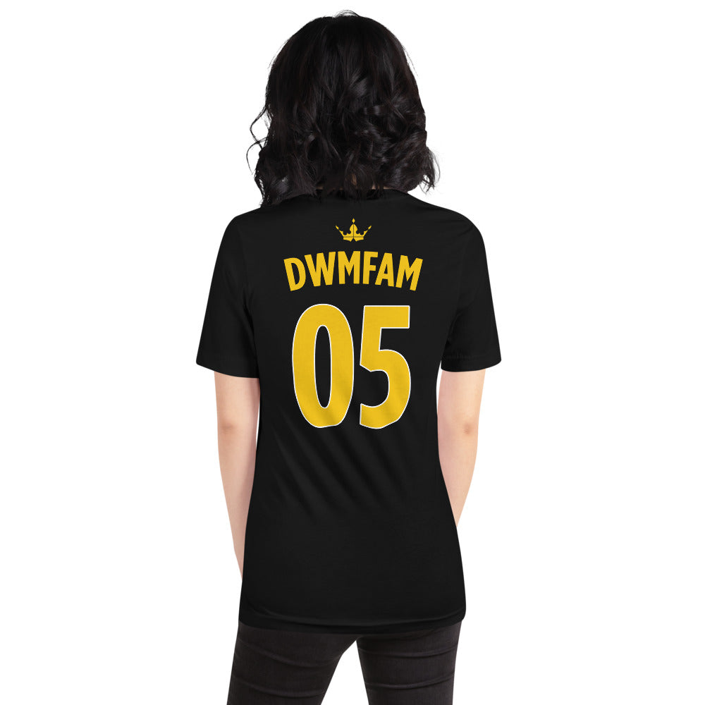 DWMFAM Back Design Black Tee - Unisex